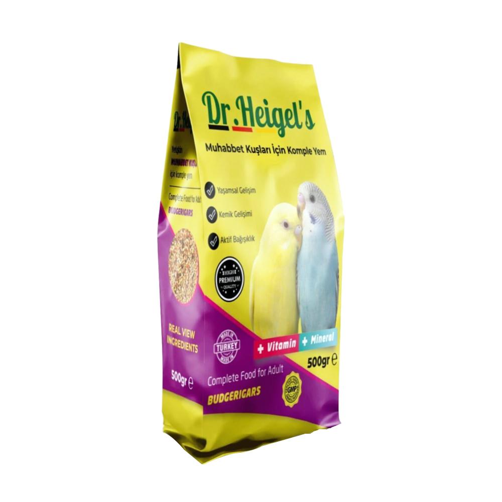Dr. Heigels Premium Vitaminli Muhabbet Kuşu Yemi 500 Gr